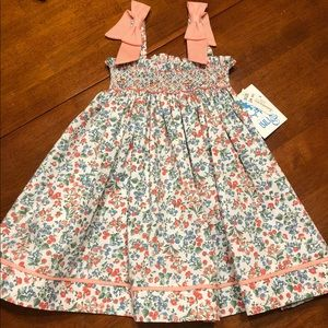 Peachy Smocked Dress